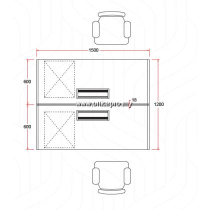 IP18-SR-2 WORKSTATION CLUSTER OF 2