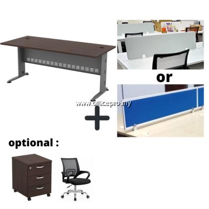 WORKSTATION CLUSTER OF 2 I OFFICE PANEL I OFFICE DIVIDER I Q SERIES SET (SQUARE DESIGN)