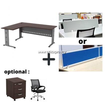 WORKSTATION CLUSTER OF 2 I OFFICE PANEL I OFFICE DIVIDER I Q SERIES SET (T DESIGN)