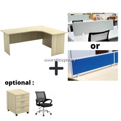 WORKSTATION CLUSTER OF 2 I OFFICE PANEL I OFFICE DIVIDER I EX SERIES SET (T DESIGN)