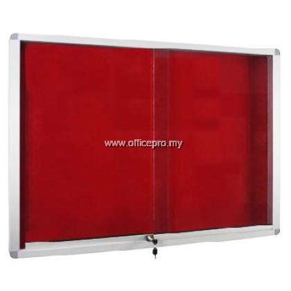 Sliding Glass Aluminium Velvet Board