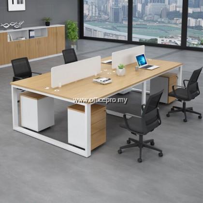 WORKSTATION CLUSTER OF 4 I OFFICE WORKSTATION I OFFICE PANEL I OFFICE DIVIDER I S SERIES SET (RECTANGULAR TYPE)
