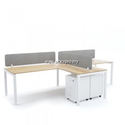 WORKSTATION CLUSTER OF 2 I OFFICE PANEL I OFFICE DIVIDER I N SERIES SET (T DESIGN)
