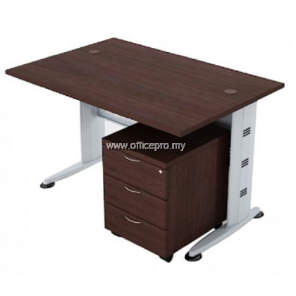 IPQT Standard Table With Mobile Pedestal 3 Drawer