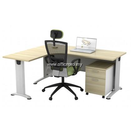 IPBL L-Shape Executive Table c/w Mobile Pedestal 1D1F