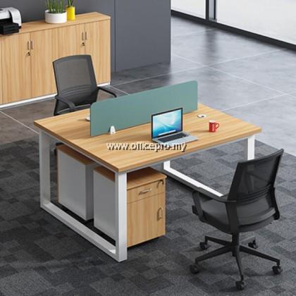 WORKSTATION CLUSTER OF 2 I OFFICE WORKSTATION I OFFICE PANEL I OFFICE DIVIDER I S SERIES SET (SQUARE TYPE)