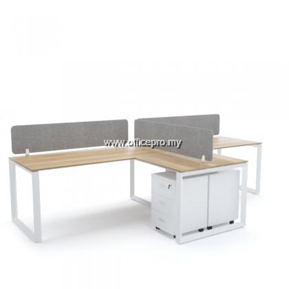 WORKSTATION CLUSTER OF 2 I OFFICE PANEL I OFFICE DIVIDER I S SERIES SET (T DESIGN)