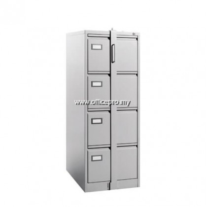 IP-S122GN 4 Drawer Steel Filing Cabinet With Goose Neck Handle With Locking Bar