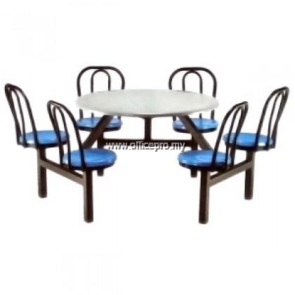 IPFG6-02 6 Saeter Fiberglass Table With Backrest (Non Swivel)