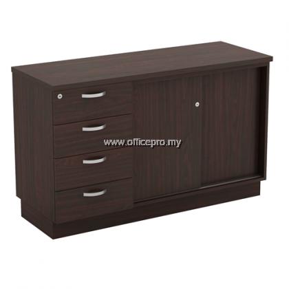 IPQ-YSP 7124 Sliding Door Cabinet + Fixed Pedestal 4 Drawer