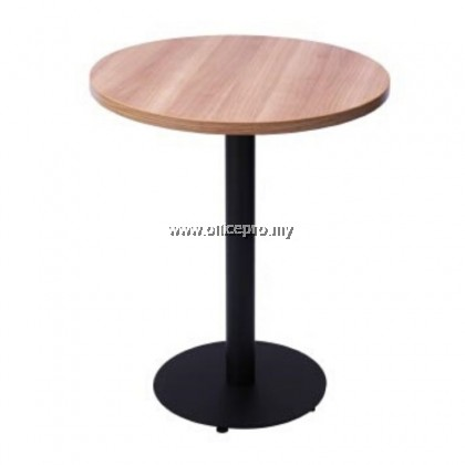 IPCFTL-04 Laminate Cafe Table Round Tops with Powder Coated Round Legs