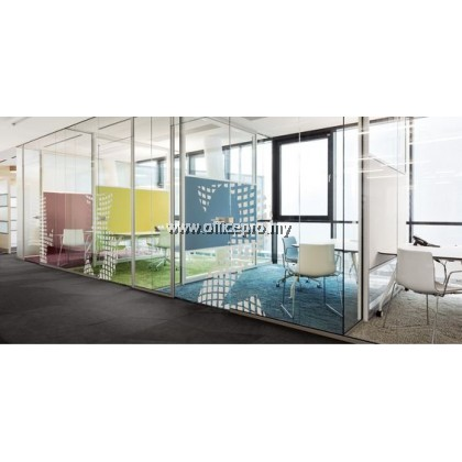 12mm Tempered Clear Glass Partition
