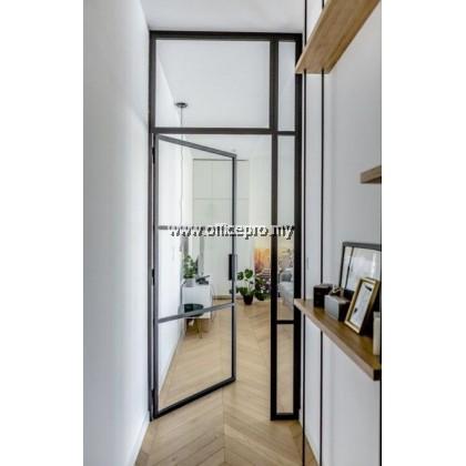 "IPSP-SWD5 4"" Aluminium Glass Swing Door C/W 5mm Clear Glass"