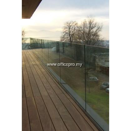 IPGRB-12 12mm Tempered Glass Railing-Balcony (Frameless)