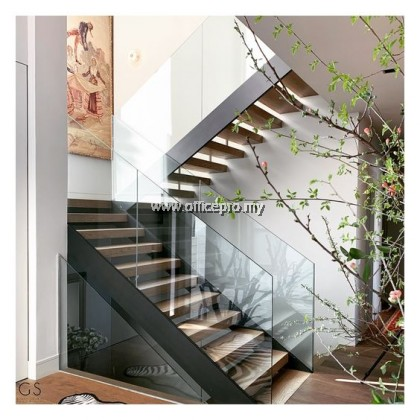 IPGRS-12 12mm Tempered Glass Railing-Staircase (Frameless)