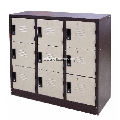 IPS-129 Half Height 9 Compartment Steel Locker